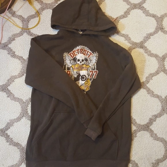 511eae3f Joe Boxers Detroit Brown Hoodie Kids Boys Size XL